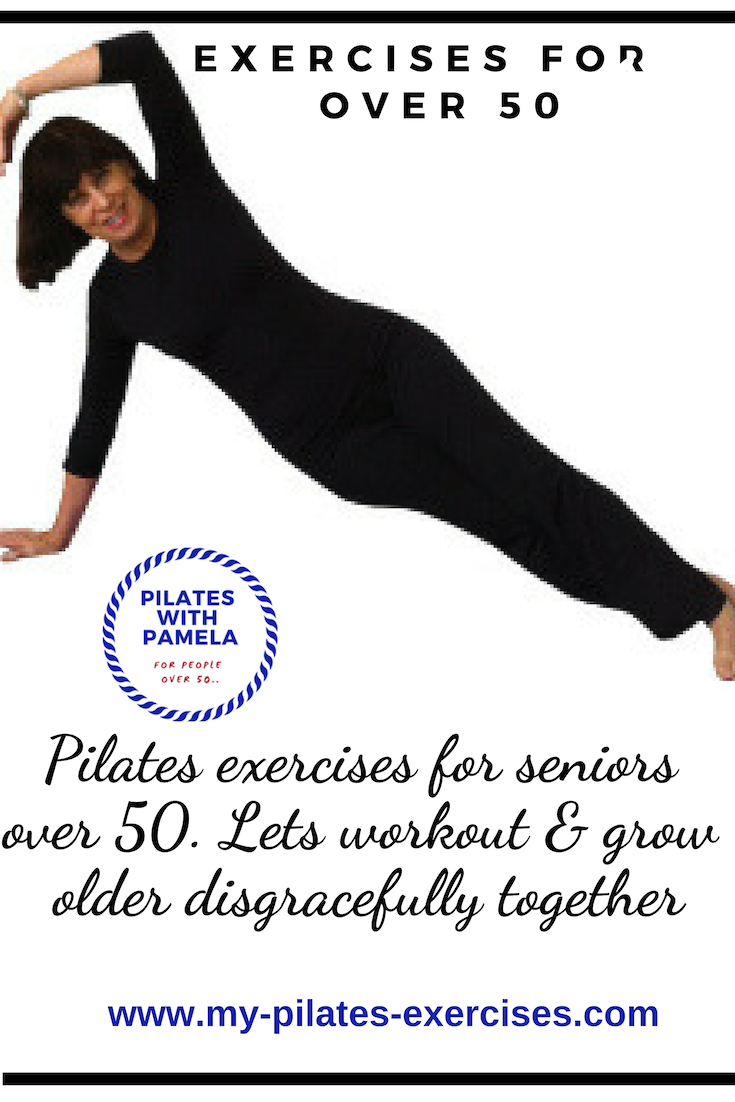 Pilates Exercises are twofold. Strengthening and Stretching. You'll develop strength as you do in a gym class and flexibility as you do in a yoga class. Perfect!